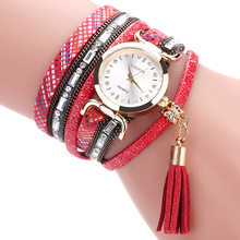 купить New Women Luxury Antique Watch Fashion Leather Casual Design Crystal Dress Quartz Watch Ladies Bracelet Bangle Wristwatches Gift по цене 390.57 рублей