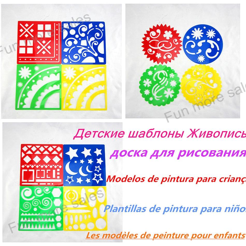 12pcgeometric shapecorner designscrollflourishflower stencilsart - Kids Drawing Stencils