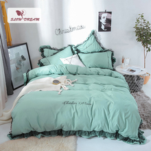 SlowDream Lace Luxury Decor Home Bedding Set 100% Cotton Double Queen King Bedspread Duvet Cover Bed Sheet Linen