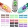 12 unids/set zapatos creativos Unisex mujeres hombres atléticos correr sin cordones zapatos elásticos de silicona zapatos de encaje todas las zapatillas 9 colores