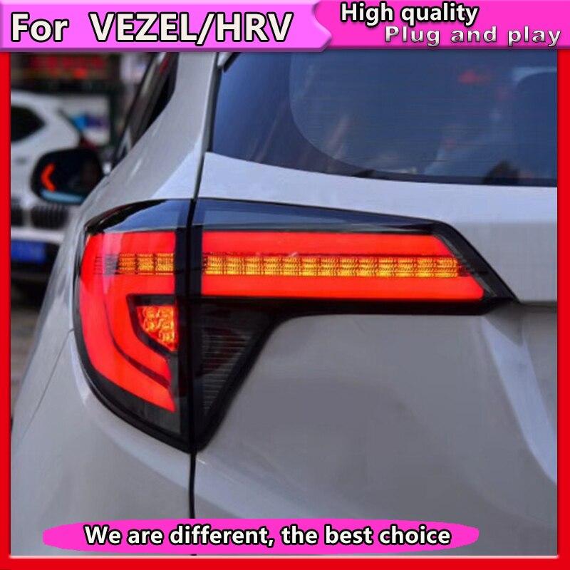 Car-styling For honda HRV Taillight 2014-2018 For VEZEL LED Dynamic turn signal Rear Lamp LED DRL+Brake+Park+Signal Stop Lamp
