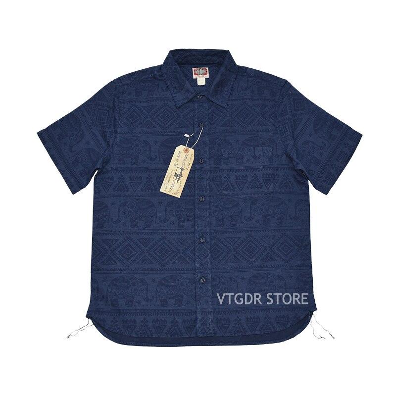 بوب دونغ القطن الكتان الفيل بات الصيف الرجعية الخفيف قصير كم قمصان-في قمصان كاجوال من ملابس الرجال على  مجموعة 1