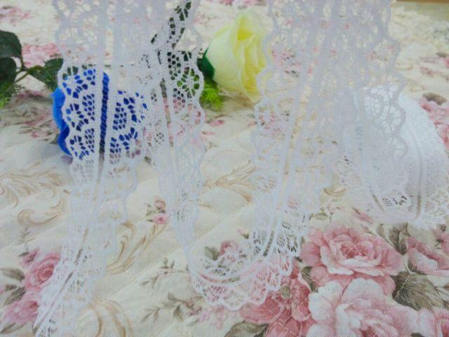 Вязание вышитая кружево лента украшение 10 ярдов своими руками белый