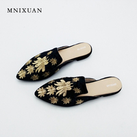 Women Sandals Slippers Mules Slippers Half Loafers Casual Flat With Animals China Shoes Woman Pointed Toe