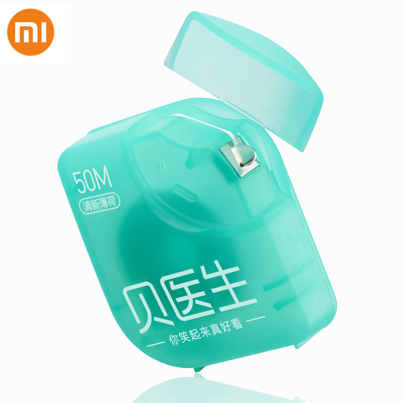 New Fast Shipping Xiaomi Doctor B Dental Floss Mint Flavor 50M Teeth Flosser Stick Clean Oral Care