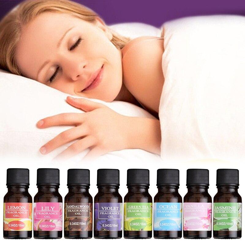 100% Pure Natural Essential Oils 10ml Essential Massage Aroma Oils Diffuser Burner Flower Fruit Humidifier Air Freshening TSLM1