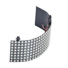 8X8 16X16 8X32 Pixels SK6812 WS2812B RGB Ma Trận Riêng Lẻ Addressable Kỹ Thuật Số Linh Hoạt Đèn LED Panel điểm Ảnh Màn Hình DC5V