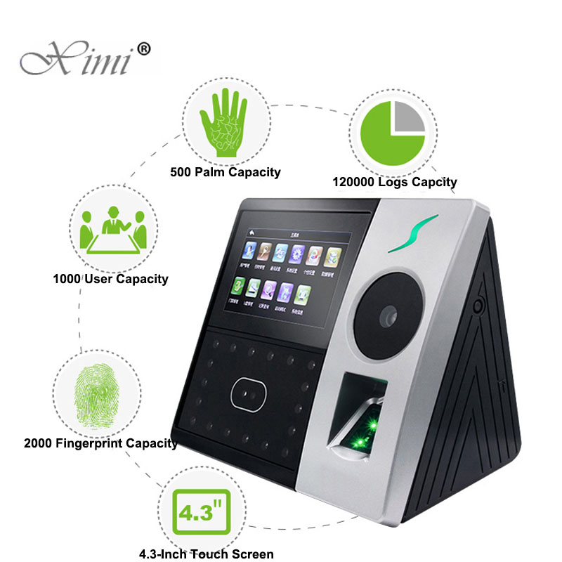 New Arrival ZK Pface202 Face And Palm Time Attendance Biometric Time Recording Time Clock Fingerprint Access Control System