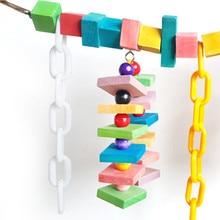 Purple Star Large Parrot Toys Colorful Wood Swing Ladder Bridge Bird Perches Standing Bite Toy Pet Supplies Cage Pendant Decor
