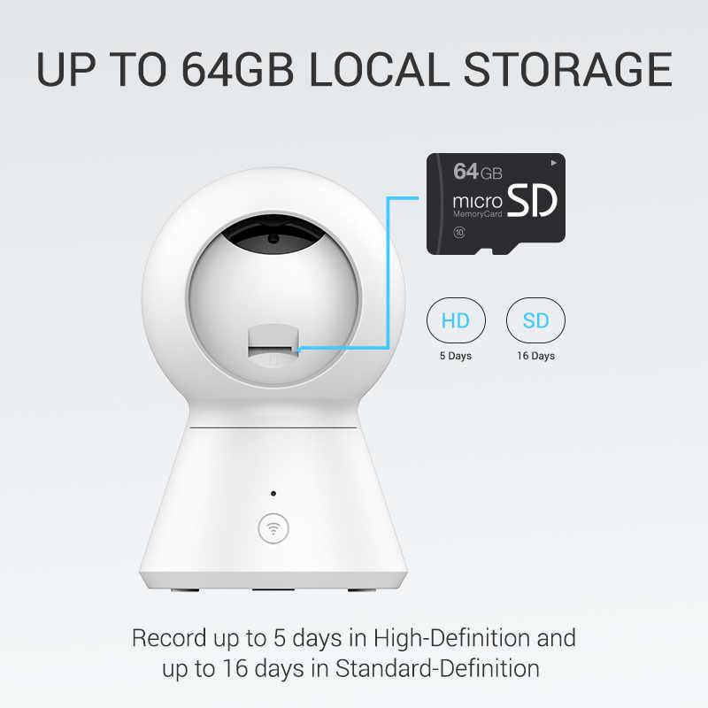 Новая умная купольная камера 1080P с питанием от камеры YI Wifi панорамирование/наклон/зум Беспроводная ip-камера видеонаблюдения Облако YI IOT приложение