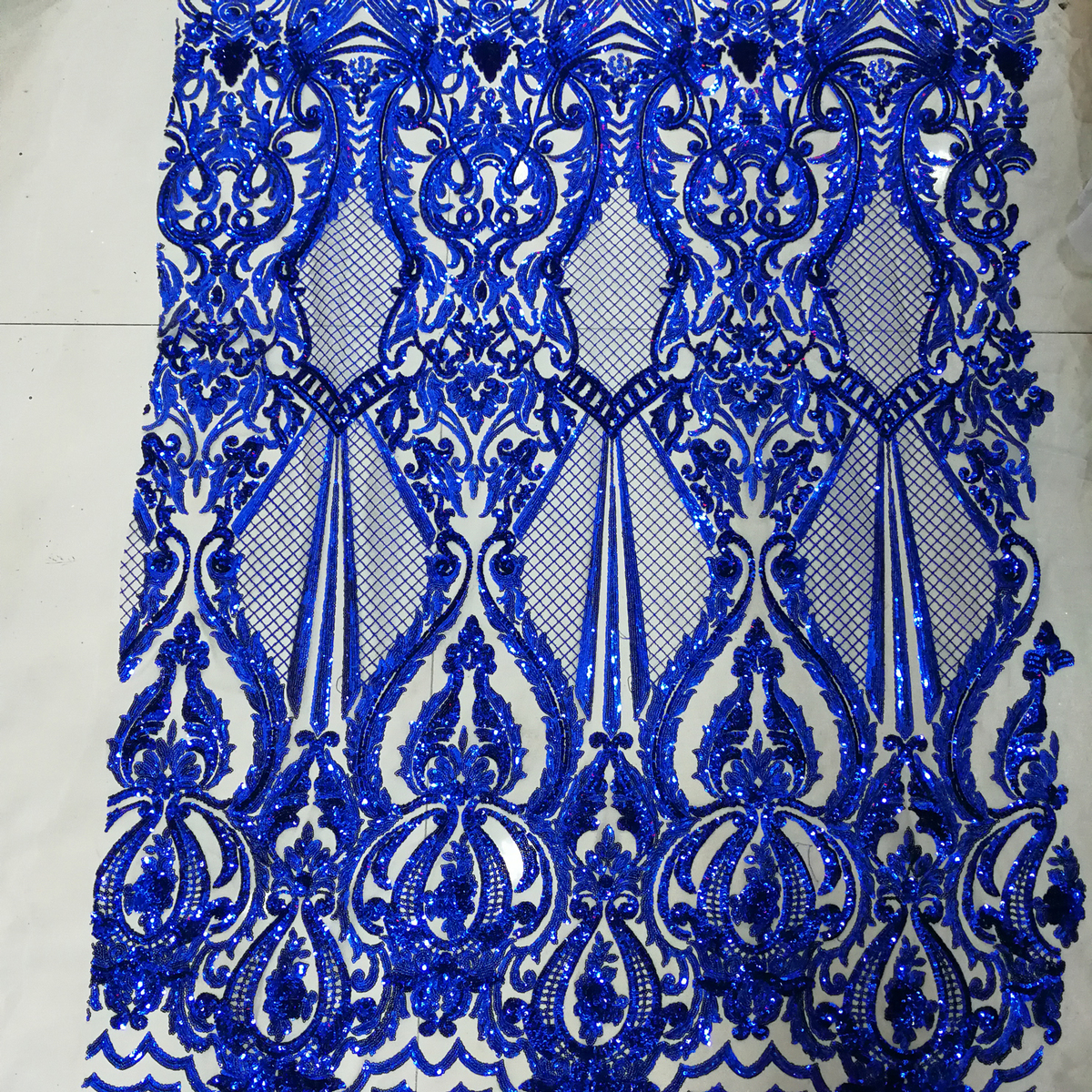 royal blue tulle with sequins 5yard lot 2017 latest blue sequin fabric for sewing dress high