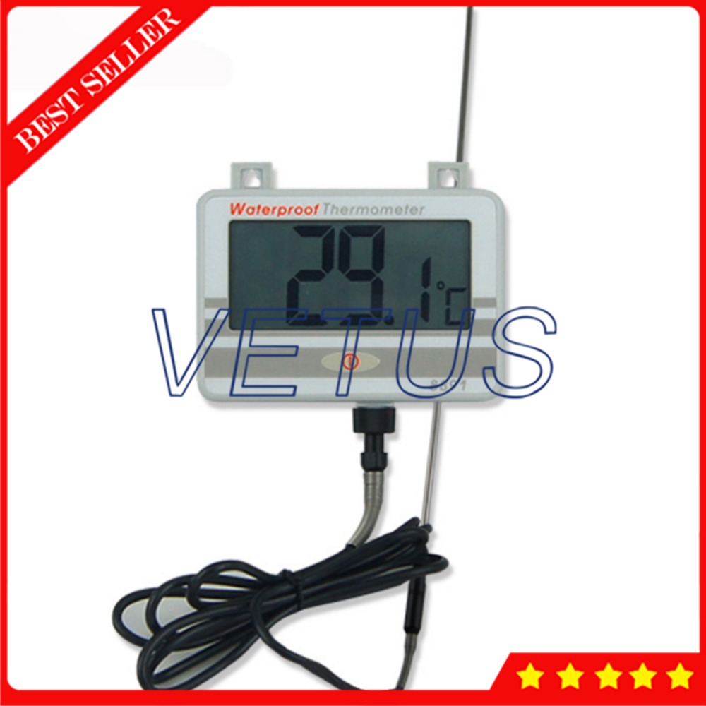 AZ-8891 Digital Wall Mounted Waterproof Thermometer w/Long Probe Boiler Water Temperature Meter Tester water thermometer water boiler display instrument water boiler thermometer 20 110 water heater meter