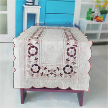 Special Price European Simple Cotton Fabric Embroidery Openwork Tablecloth Placemat Kitchen Restaurant Christmas Decor Tapete