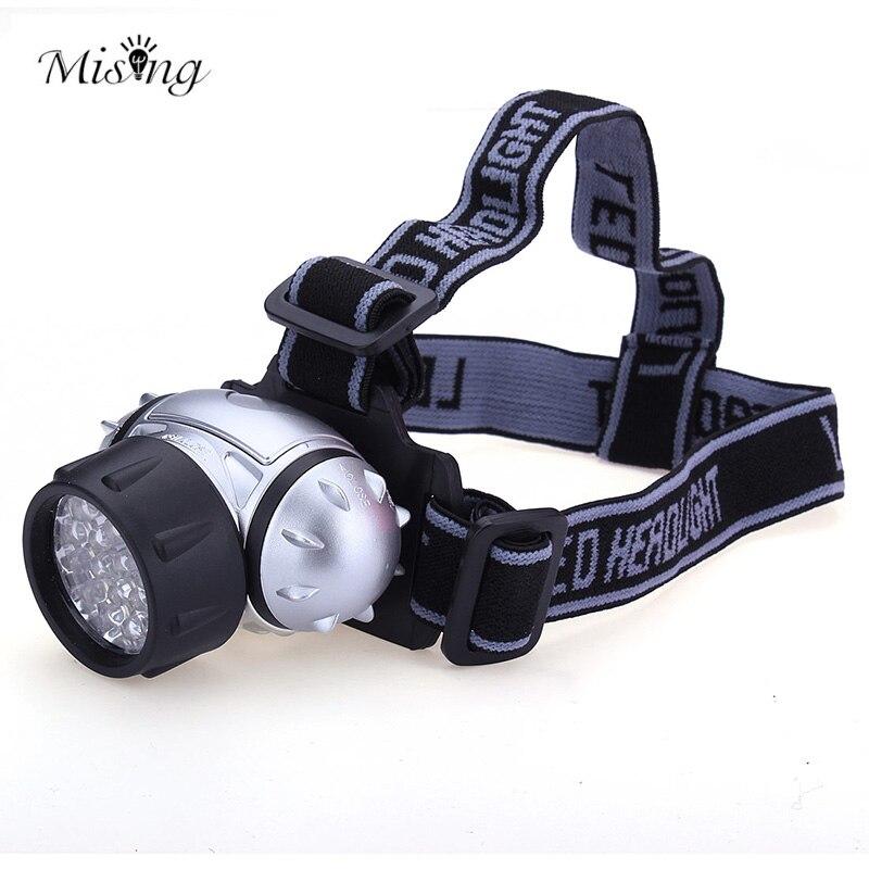 MISING Professional 21 LED Bulbs Headlamp Headlight Flashlight Outdoor Head Lamp Torch Fishing Cycling Lantern Light Searchlight