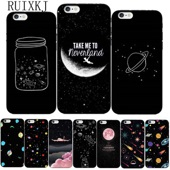 RUIXKJ Universe Series Phone Case For iphone X Case For iphone 6 6S 7 8 Plus 5S SE Fashion Cover Cute Planet Moon Star Cases iphone 6