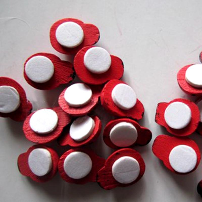 10pcs / Set 3.5 * 4.5cm ornamente Micro Peisaj Craft din lemn Craiun - Produse pentru sărbători și petreceri