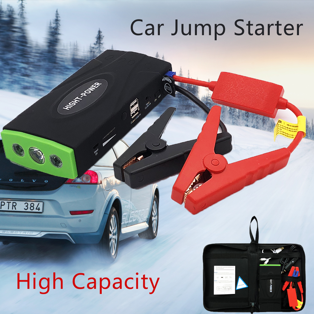 2019 New High Power Car Jump Starter 12V Portable Power Bank Auto Battery Charger 12V Startup Power For Car Starting Device Led