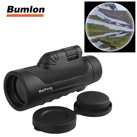 10X42 Telescope Dual Focus Monocular Scope Night Vision HD Prism Spyglass with Handle and Cellphone Clip for Wildlife 38-0011 Pakistan