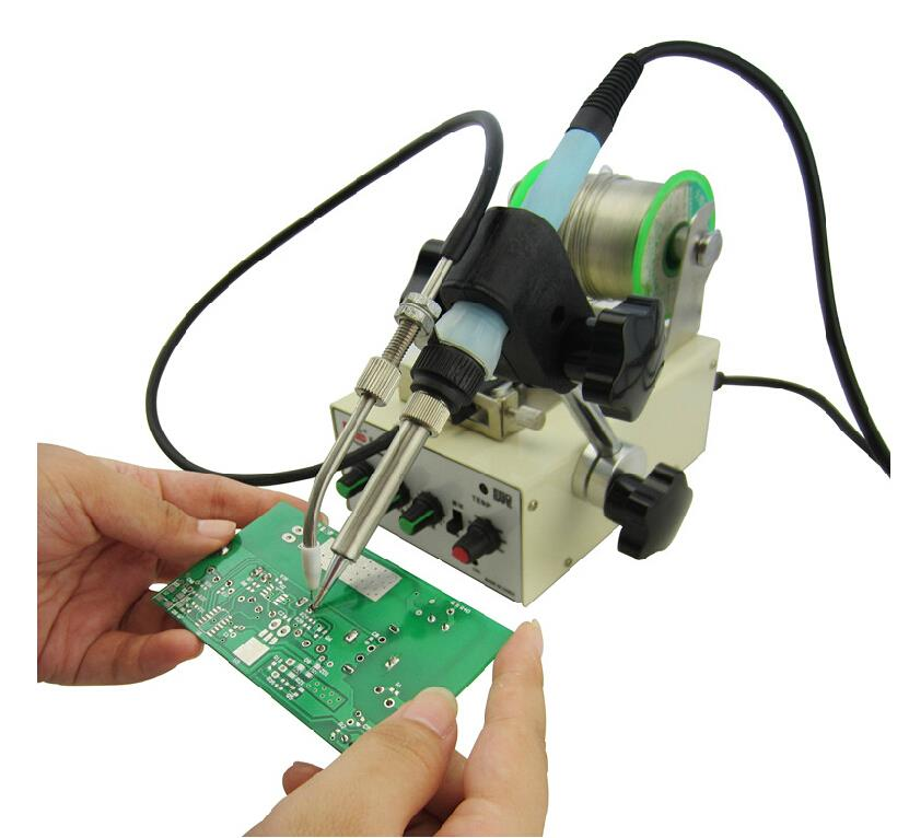 1pc automatic soldering iron machine tin feeding constant temperature solder iron Pedal soldering machine Fixed type iron 220V