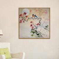 Chinese Traditional Chinese Painting Flower Bird Needlework For Wedding Home Decoration Cross Stitch Diamond Embroidery DP050