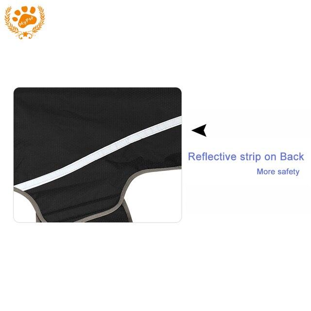 Safe Reflective Dog Clothes Water Resistant Pet Coat Spring Outdoor Breathable Sportswear Purple/Black Jacket For Dog VC-JK12013
