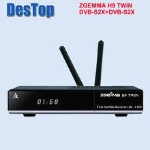 UHD 4K спутниковый ТВ-приемник двойной dvb s2x многопоточный тюнер CA + twin CI plus zgemma H9 twin