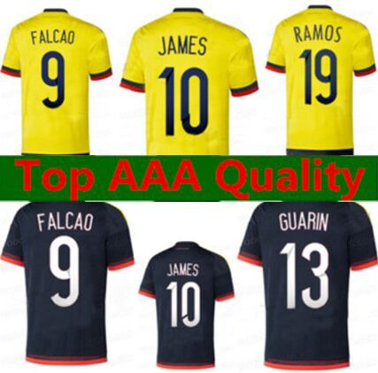 finest selection fdc2a 84dd7 Colombia soccer jersey,Thai 2015 2016 home away FALCAO ...
