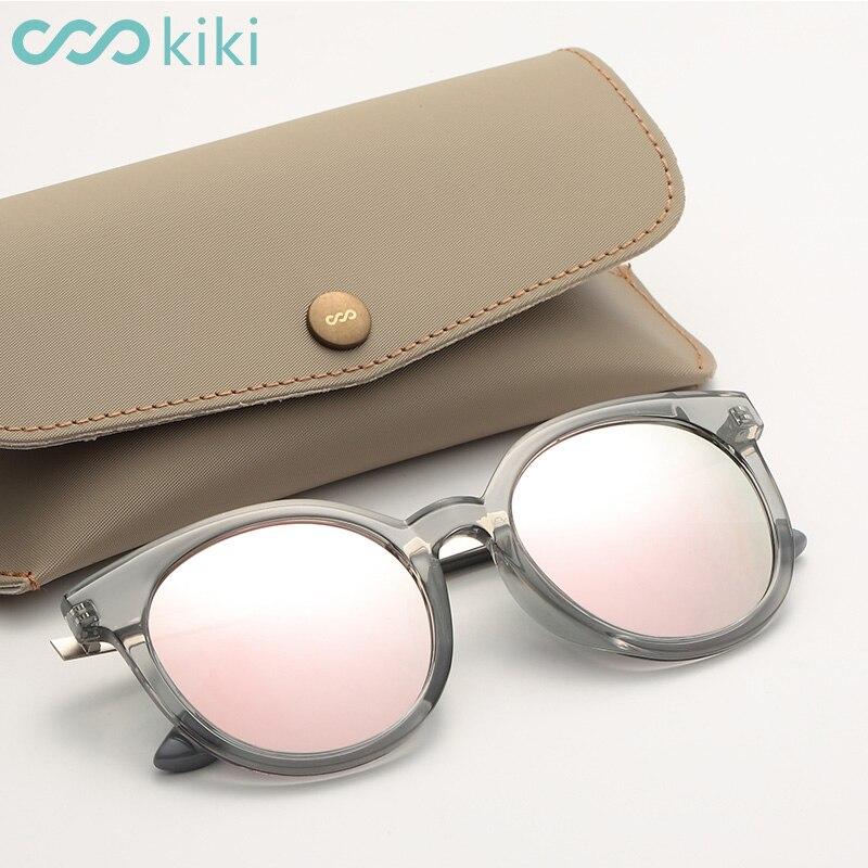 1f16636782 KIKI 2017 Women Men Polarized Sunglasses Round Brand Designer Pink Cat Eye  Glasses Driving UV400 gafas oculos de sol feminino-in Sunglasses from  Apparel ...