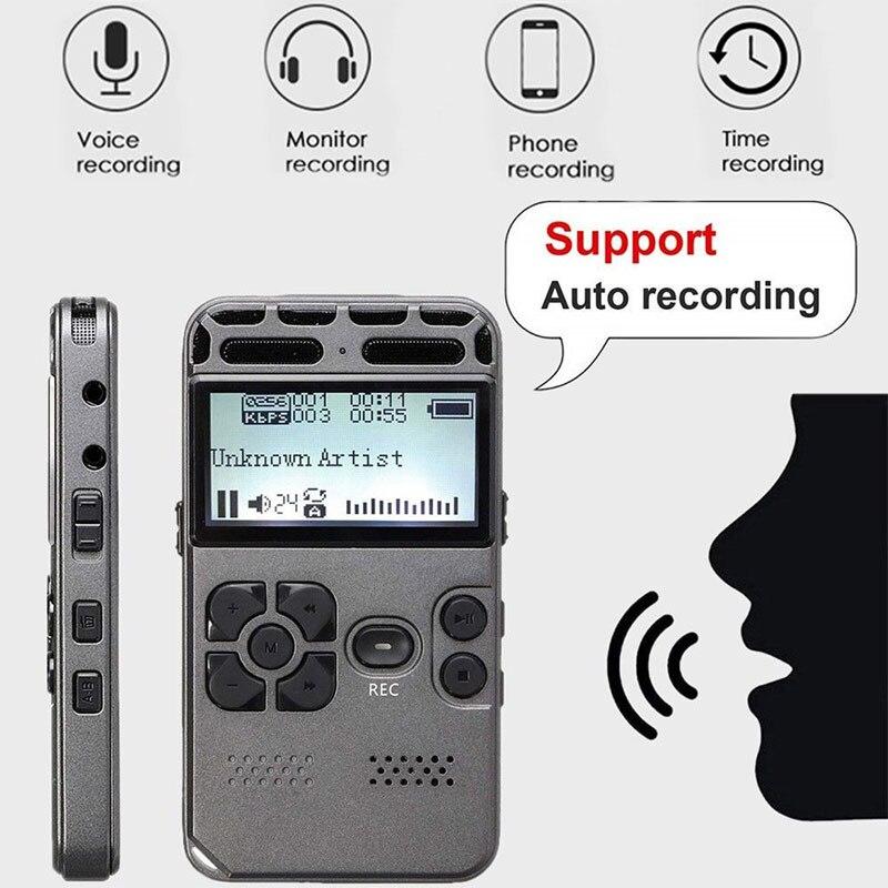V35 numérique vocal activé pour les réunions réduction du bruit enregistreur vocal USB heures enregistrement Audio Dictaphone MP3/WAV affichage de LED