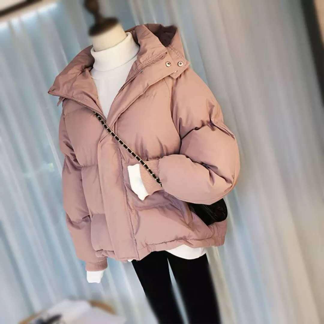 Jpadded rose Courte Parkas Le Beige Manteaux Outwear Survêtement noir Coton jaune Épaississement D'hiver Vers Lâche Femmes Surdimensionnée Rembourré Vestes De Bas Chaud RUnRq8r6