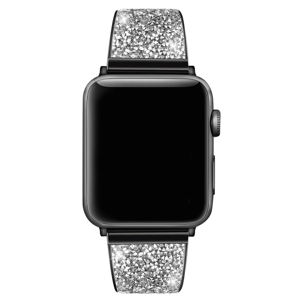 URVOI bracelet brillant pour Apple Watch série 5 4 3 2 1 bande pour iwatch luxe paillettes zircone lien bracelet design moderne-in Bracelets from Montres    1