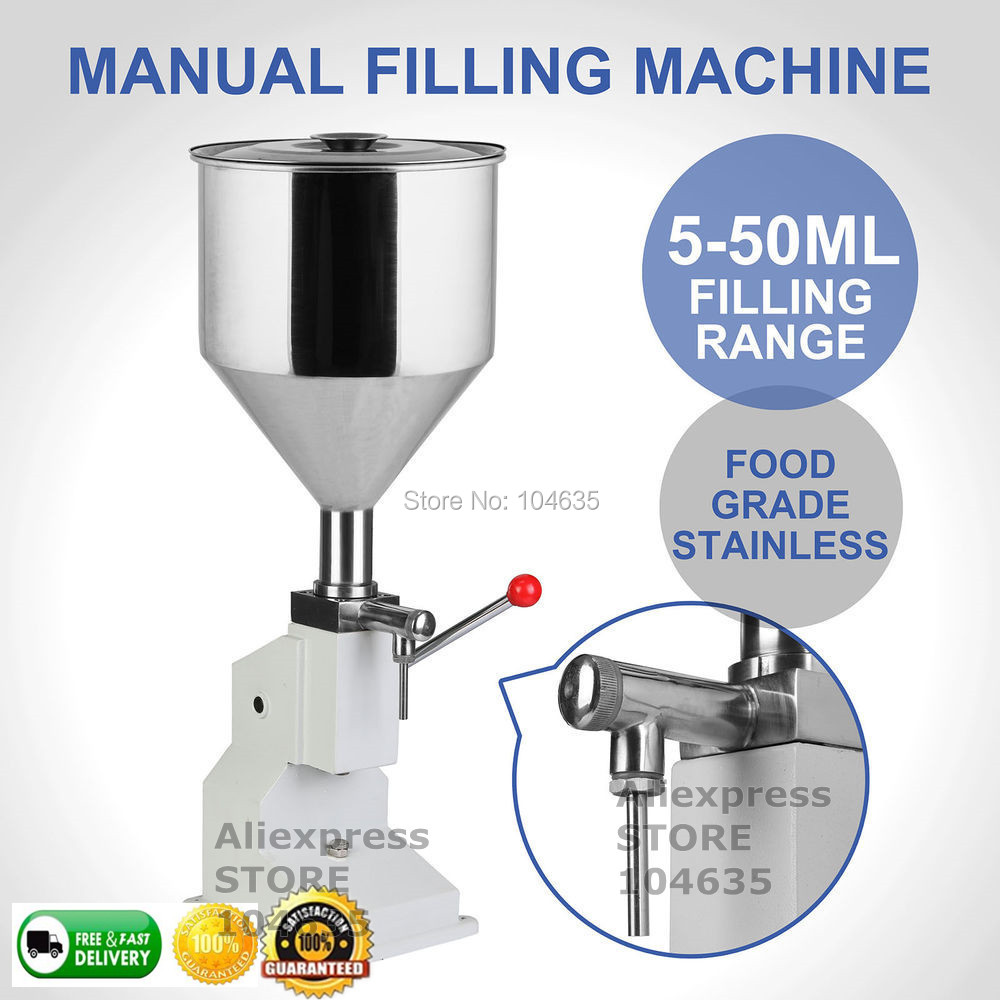 Low Price High Quality A03 Manual Hand Pressure Cream Paste Soap Juice Filler Packing Machine Honey Food Filling Machine 5-50ML