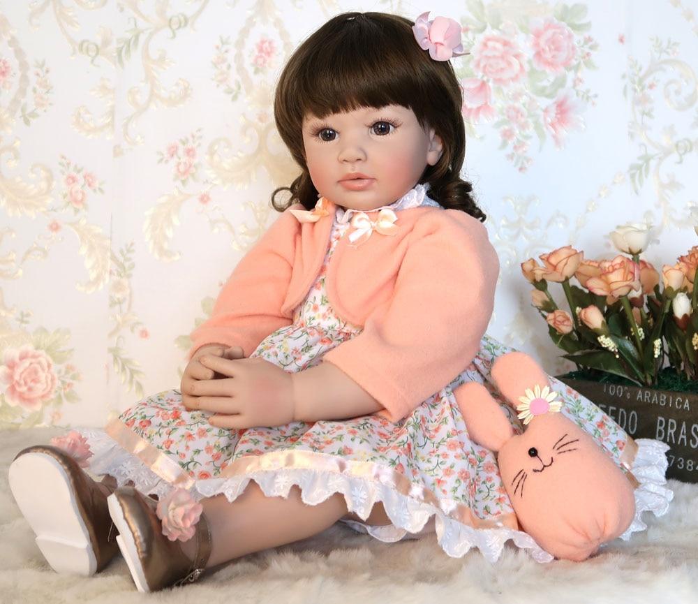 60cm Silikon Reborn Baby Puppe Spielzeug Für Mädchen Vinyl Prinzessin Kleinkind Bebe Bonecas Kind Geburtstag Geschenk präsentieren Spielen Haus spielzeug-in Puppen aus Spielzeug und Hobbys bei  Gruppe 1
