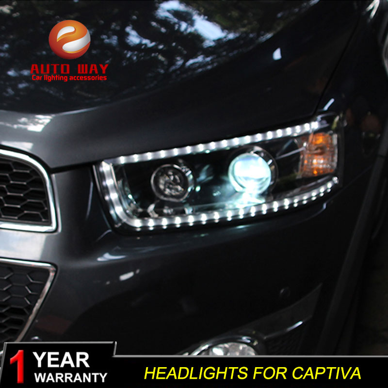Car Styling Headlights casa For Chevrole Captiva 2008 2014 Car Led Lights Double Xenon Car Accessories Daytime Running Lights