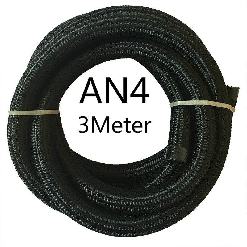 ESPEEDER 3M гоночный шланг нейлон-нержавеющая сталь шланг топливная линия Универсальный Масляный охладитель шланг Труба AN4 AN6 AN8 AN10 AN12 черный - Цвет: AN4