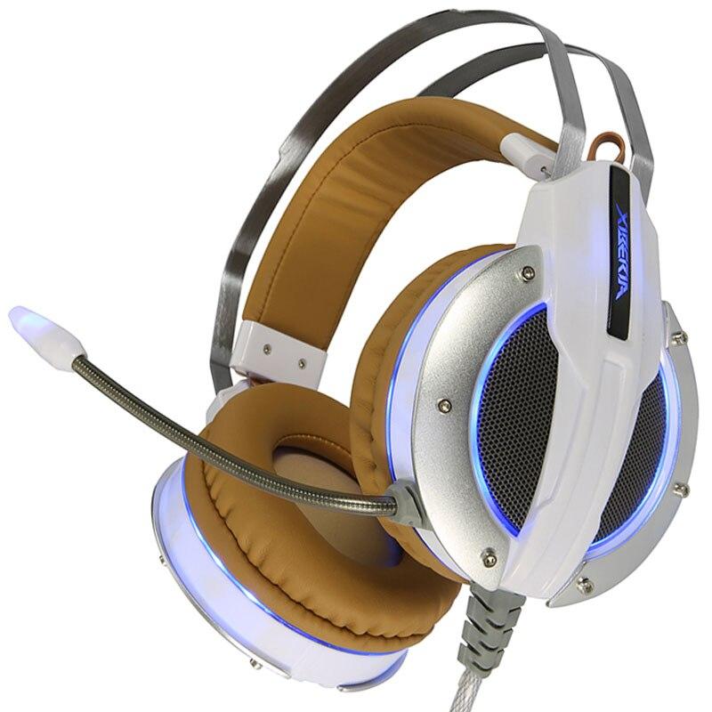 Gaming Headset Vibration Earphones & Headphones with Microphone Gamer Bass Original Brand Xiberia 3.5mm Colorful Metal X11 earphones headset earphones laptop bass earphones headset belt microphone