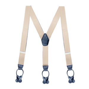 Image 5 - Adult Button Suspenders Black Leather Suspenders Y back Shape Man Ligas Tirantes Stretch Hangeband 3.5*120cm 8 colors NBD9119