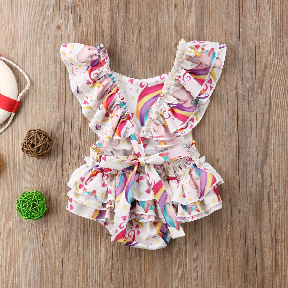 NWT Kid Baby Girl Floral Romper Dress Bodysuit Jumpsuit Outfit Clothes One-piece