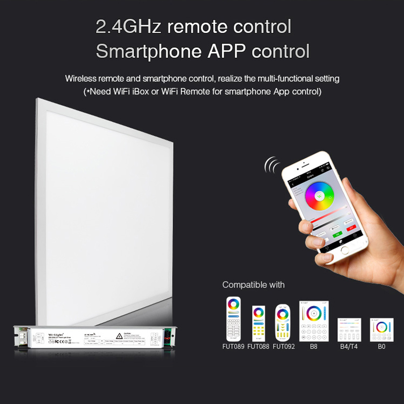 Miboxer FUTL01  40W RGB+CCT led Panel Light  2.4G Wireless remote control Smartphone APP control|LED Panel Lights| |  - title=