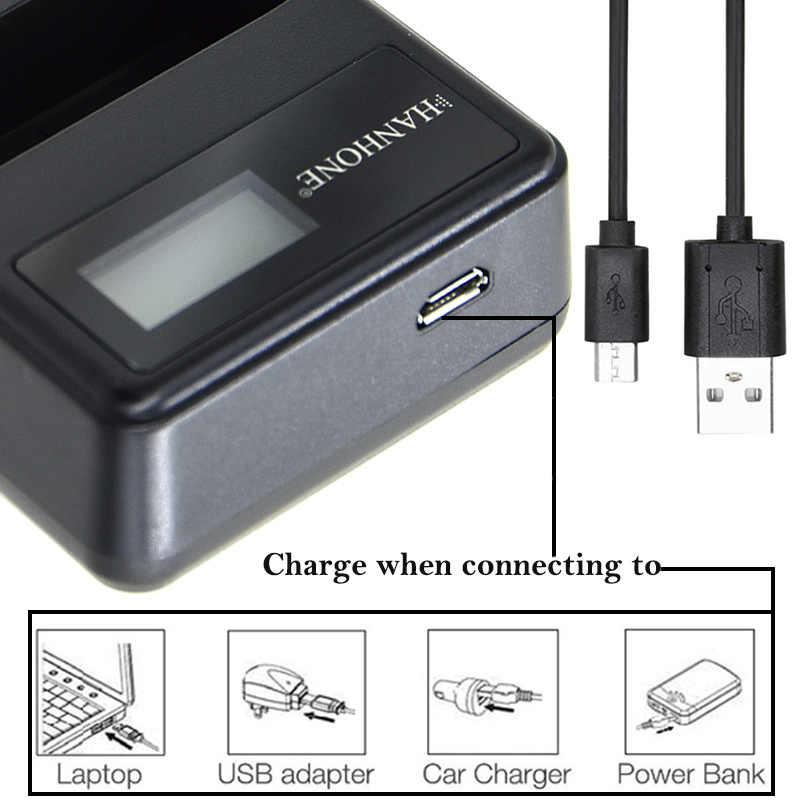 DMW-BLG10 BP-DC15 LCD Carregador USB Carregador para Panasonic Lumix GF6, GX7, GX80, GX85, GX7 Mark II, LX100, D-Lux (Tipo 109) Baterias