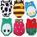 2016 Newborn baby girl clothes baby jumper clothing Cartoon Fruit pattern infant Jumpsuit Bodysuit Clothes bebes good