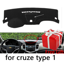 Per Chevrolet Cruze 2009-2013 2014 cruscotto tappetino pad di Protezione Ombra Cuscino Pad interni sticker car styling accessori