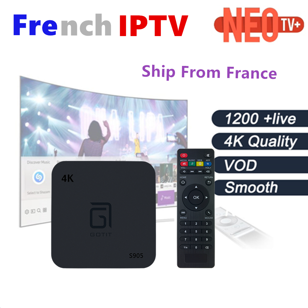 S905 Quad-Core Android TV Box with 1 Year French IPTV Arabic IPTV NEO TV IPTV Belgium IPTV code LiveTV Channel Smart IP TV Box