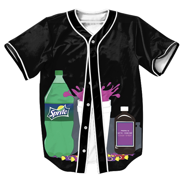 That Lean Jersey 3d StreetwearSweat shirt with buttons Sippin Hip Hop tees overshirt Men's shirts tops Summer tees