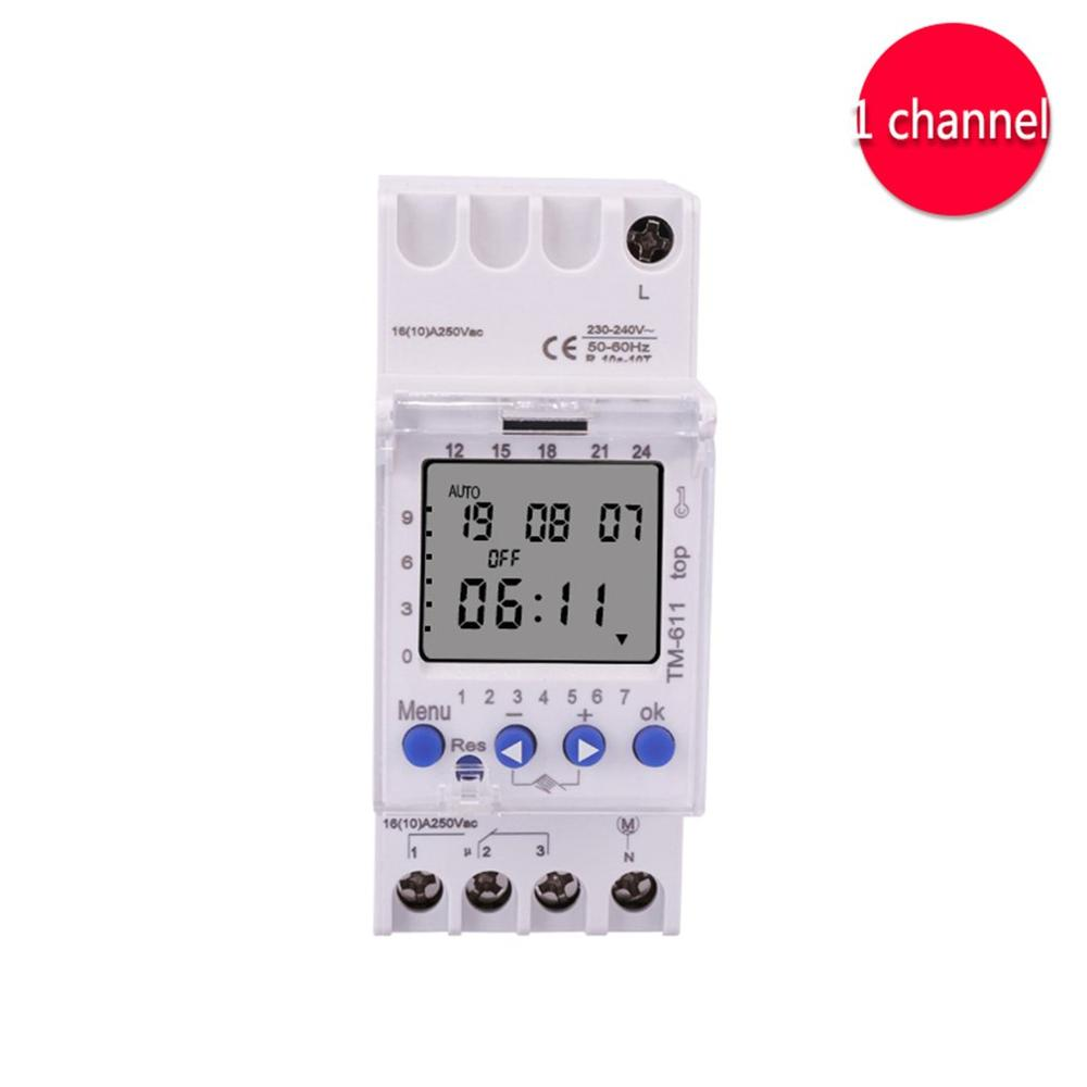 SINOTIMER 220V TM611 One Channel Timer 7 Days 24Hours Programmable Electronic LCD Digital Time Switch with PulseSINOTIMER 220V TM611 One Channel Timer 7 Days 24Hours Programmable Electronic LCD Digital Time Switch with Pulse