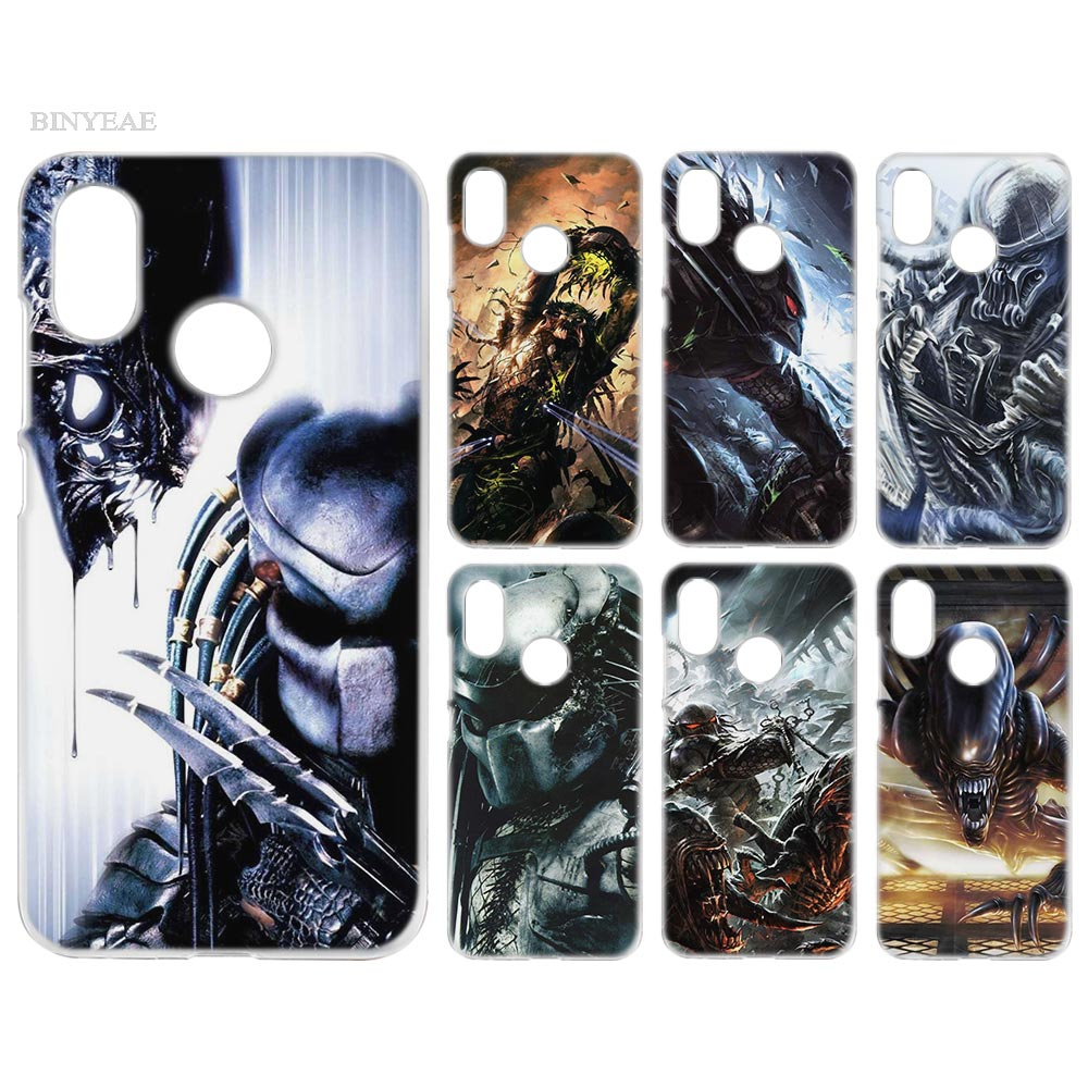 BINYEAE Case Cover Clear Hard PC Plastic for Xiaomi Redmi Note 4 4X 5 Plus A1 S2 A2 8 SE Alien vs Predator