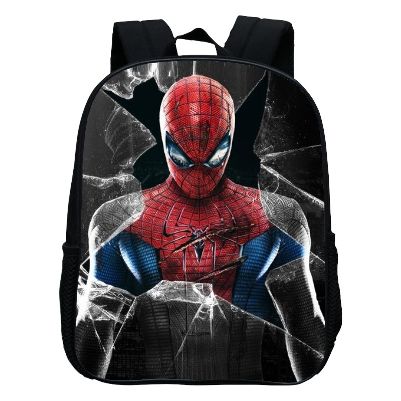 2017 Hot Sale Oxford 12 Inches Cartoon Baby Boys Small Backpacks Printing Hero Spiderman Kids School Bags For Children SchoolBag