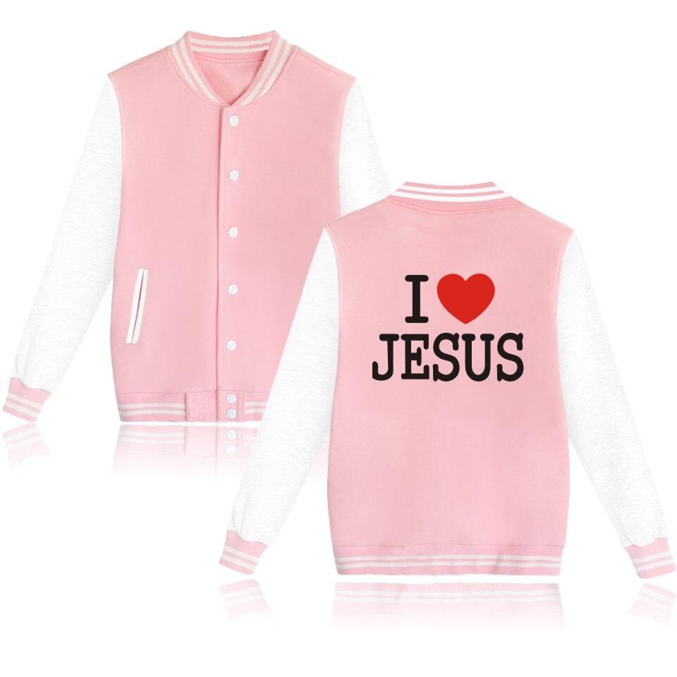 Desain t shirt elegan - 2016 Baru Keren Yesus Christian Desain Musim Gugur Baru Print Wanita Jaket Bisbol Dan Xxs Street