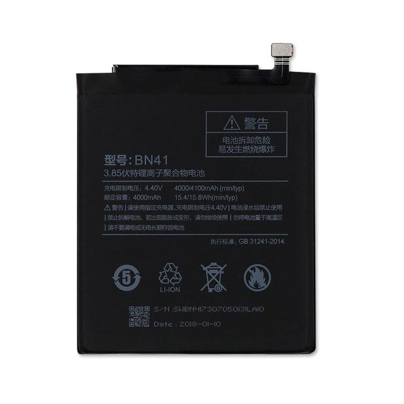2019 nueva batería Original de 4000mAh BN41 para Xiaomi Redmi Note 4 xiaomi Helio X20/Note 4X Pro MTK Helio X20 Versión Global Lenovo A6 nota 3GB 32GB MTK P22 Octa Core Smartphone Dual a las cámaras de 19,5: 9 6,09