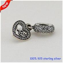 Convient Pandora Bracelets maman Dangle perles en argent avec de la zircone cubique 2015 nouveau 100% 925 Sterling Silver Charms bricolage gros